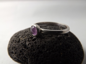 Amethyst Hand Set Onto Sterling Silver