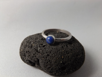 Lapis Lazuli Hand Set Onto Sterling Silver