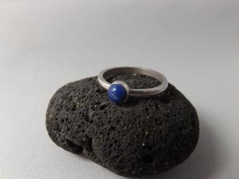 Lapis Lazuli Hand Set Onto Sterling Silver