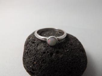 Fiery Opal Hand Set Onto Sterling Silver