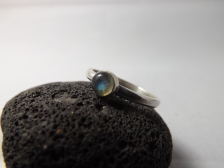 Labradorite Hand Set Onto A Sterling Silver Band